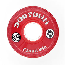 Load image into Gallery viewer, Dogtown K-9 84a 63mm Clear Red / Clear Green Mix Cruiser Skateboard Wheels
