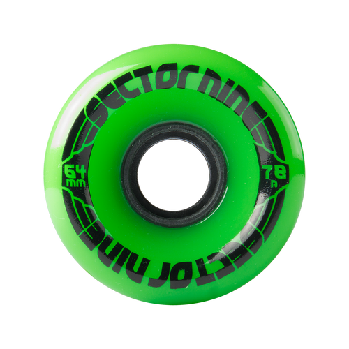 Sector Nine Green Nineball 64mm 78a Cruiser Wheels