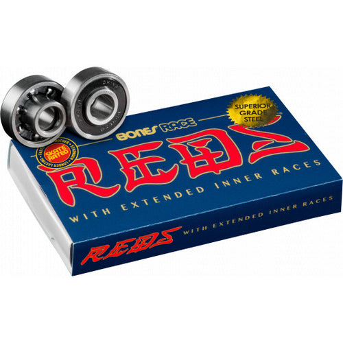 Bones Race Reds with Extended Inner Races Skateboard Bearings