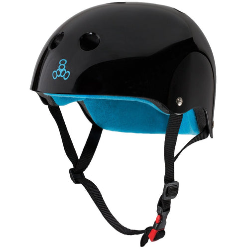 TRIPLE EIGHT CERTIFIED SWEATSAVER BLACK GLOSSY S/M HELMET