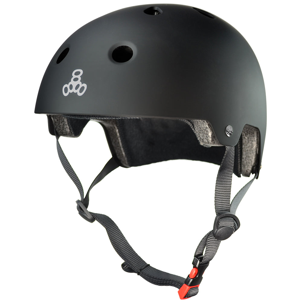 TRIPLE EIGHT DUAL CERTIFIED BLACK MATTE XS/S HELMET