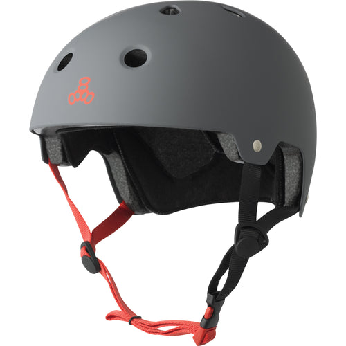 Triple Eight Dual Certified Gun Matte Youth Helmet