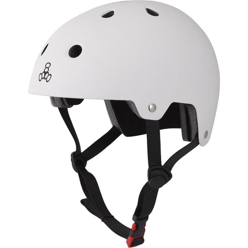 Triple Eight Dual Certified White Matte L/XL Helmet