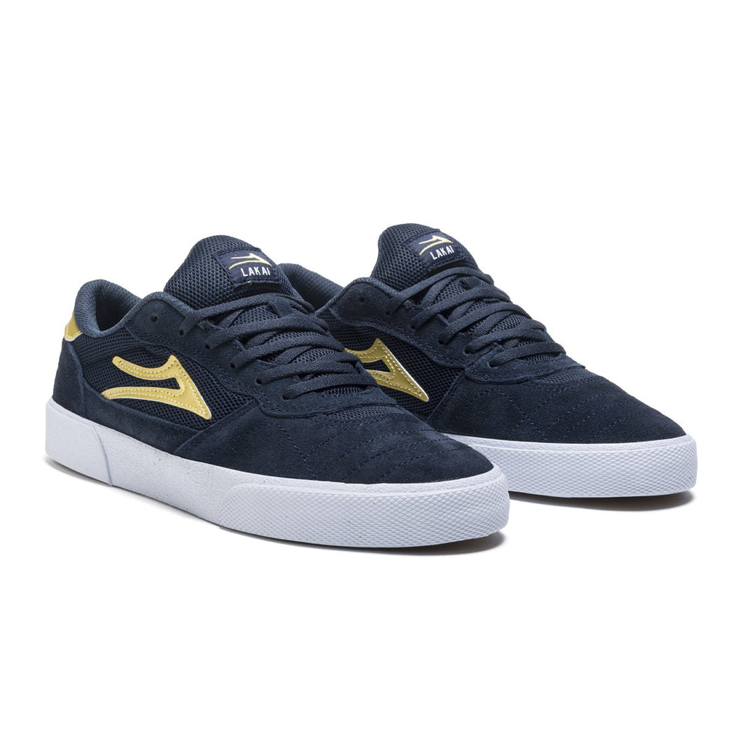 Lakai Cambridge Navy Gold Shoes