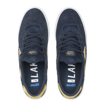 Load image into Gallery viewer, Lakai Cambridge Navy Gold Shoes