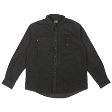Load image into Gallery viewer, Theories Utility Cord Black Button Up Shirt