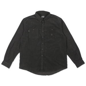 Theories Utility Cord Black Button Up Shirt