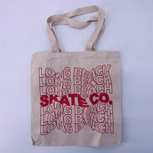 "Long Beach Skate Co. ""Thank You"" Natural Canvas Tote Bag"