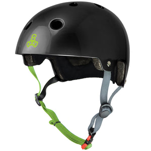 TRIPLE EIGHT DUAL CERTIFIED BLACK ZEST GLOSS L/XL HELMET
