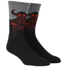 Load image into Gallery viewer, TOY MACHINE HELL MONSTER CREW BLACK SOCKS
