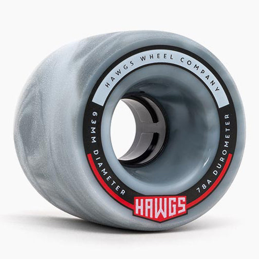 Hawgs Fatty Hawgs Grey White Swirl Stoneground 63Mm 78A Cruiser Wheels