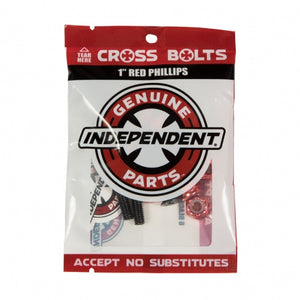 "Independent Genuine Parts Phillips 1"" Black/Red Hardware"