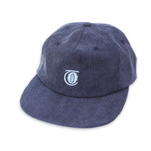 Load image into Gallery viewer, Theories Lantern Corduroy Navy Strapback Hat