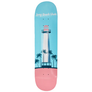 "Long Beach Skate Co. Lighthouse Remix Series V2 Turquoise & Pink 8.25""  Skateboard Deck"