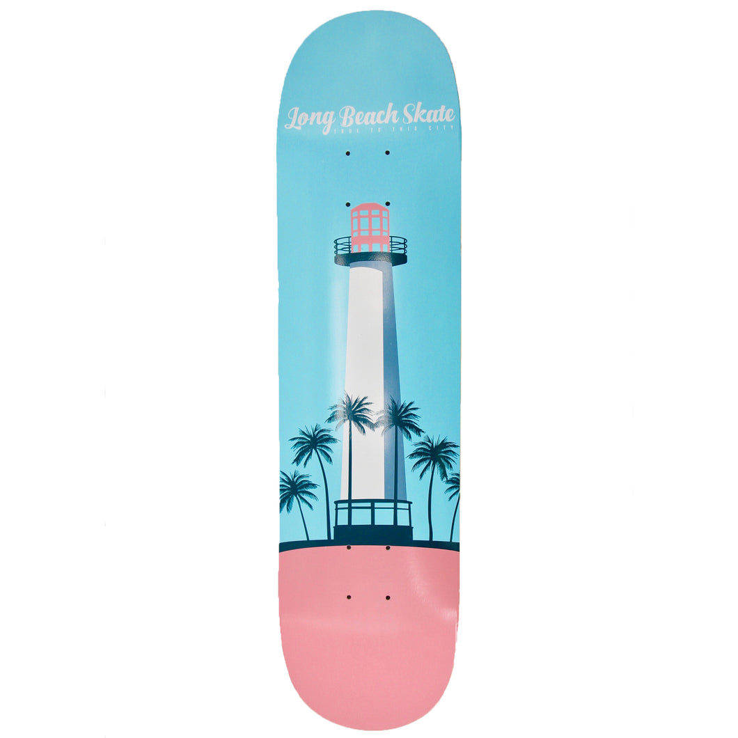 Long Beach Skate Co. Lighthouse Remix Series V2 Turquoise & Pink 8.25