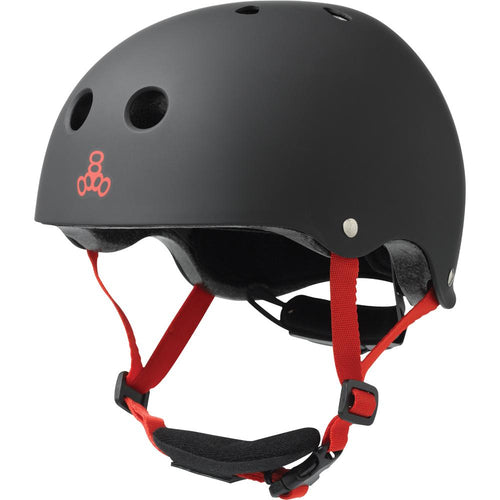 TRIPLE EIGHT LIL 8 BLACK RUBBER HELMET