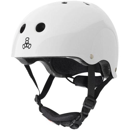 Triple Eight LIL 8 White Glossy Youth Helmet