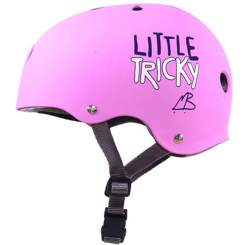 TRIPLE EIGHT LITTLE TRICKY JR V2 PINK RUBBER HELMET