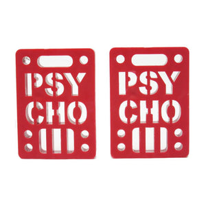"Psycho 1/4"" 2 Pack Red Soft Risers"