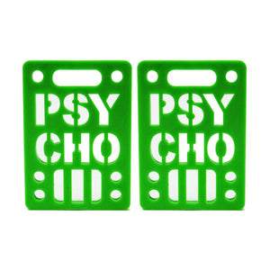 "Psycho 1/8"" 2 Pack Green Soft Risers"