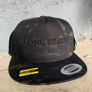 Flat Bill Trucker Hat - Long Beach Skateboard Co. - Public