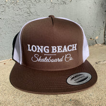 Load image into Gallery viewer, Flat Bill Trucker Hat - Long Beach Skateboard Co. - Public