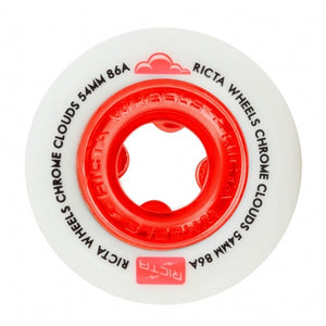 Ricta Chrome Clouds Red 54Mm 86A Cruiser Wheels