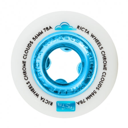 RICTA CHROME CLOUDS BLUE 56MM 78A CRUISER WHEELS
