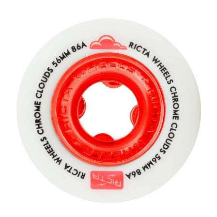 RICTA CHROME CLOUDS RED 56MM 86A CRUISER WHEELS