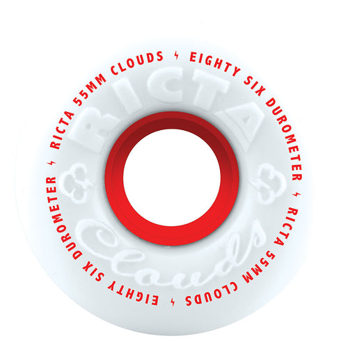 Ricta Clouds Red 86a 55mm Cruiser Skateboard Wheels
