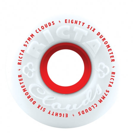 RICTA CLOUDS RED 57MM 86A CRUISER WHEELS