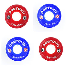 Load image into Gallery viewer, Dogtown K-9 84a 59mm Clear Blue / Clear Red Cruiser Skateboard Wheels