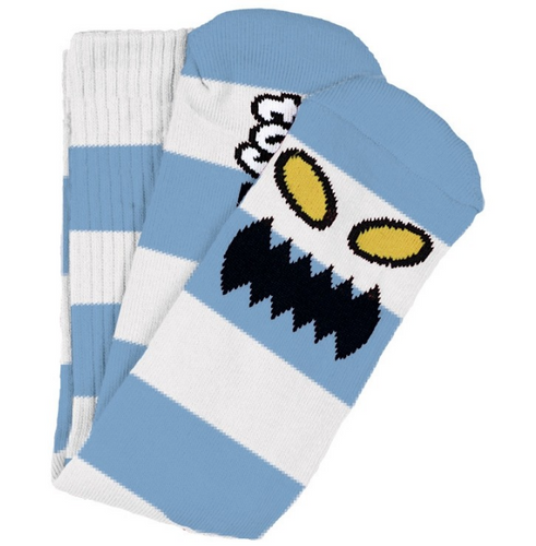 Toy Machine Monster Big Stripe Blue Crew Socks