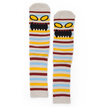 Load image into Gallery viewer, TOY MACHINE MONSTER FACE MINI STRIPES MULTI CREW SOCKS