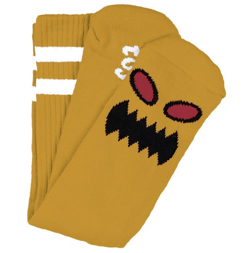 TOY MACHINE MONSTER FACE MUSTARD CREW SOCKS