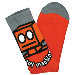 Toy Machine Robot Orange Crew Socks