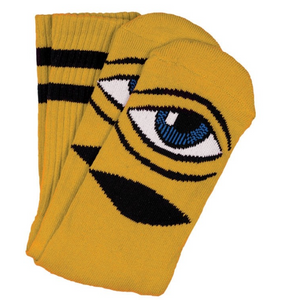 TOY MACHINE SECT EYE MUSTARD CREW SOCKS