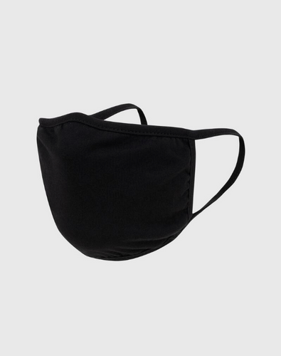Official Blank Black Cotton Face Mask