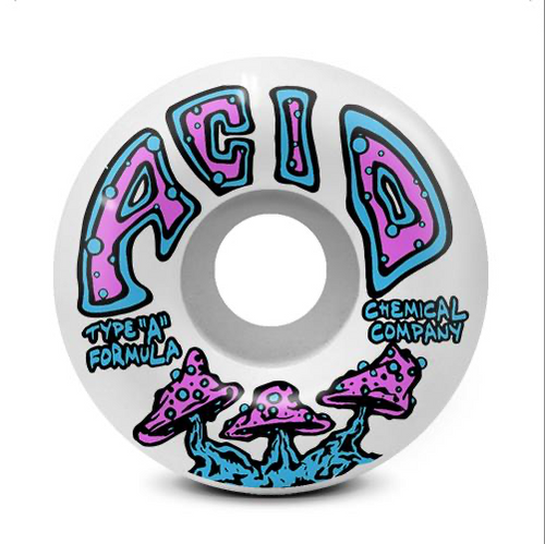 Acid Type A Shrooms 99A 52mm White Street Wheels
