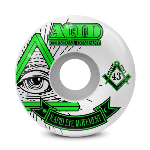 Acid Rem Pyramid 99A 56mm Green Street Wheels