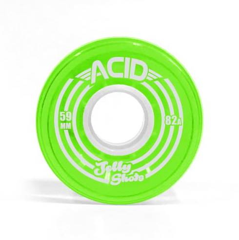Acid Jelly Shots 80A 59mm Green Cruiser Wheel
