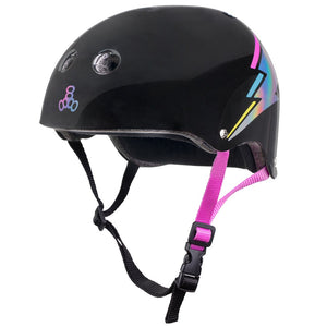 "Triple Eight ""The Certified Sweatsaver"" Black Hologram S/M Helmet"