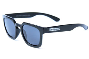 HAPPY HOUR WOLF PUP GLOSS BLACK SUNGLASSES