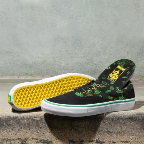 Vans Era Pro Shake Junt Black Green Skate Shoes