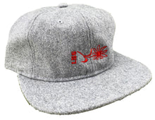 "Load image into Gallery viewer, LB Skate Co. ""Daisy"" LBS Sidelay Grey Wool Low-Pro Flat-Peak Six-Panel Strapback Hat"