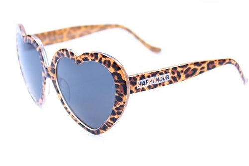 HAPPY HOUR HEART ONS LEOPARD DELFINO SUNGLASSES
