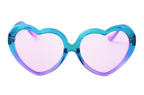 Happy Hour Heart Ons Moxi Teal Fade Purple Sunglasses