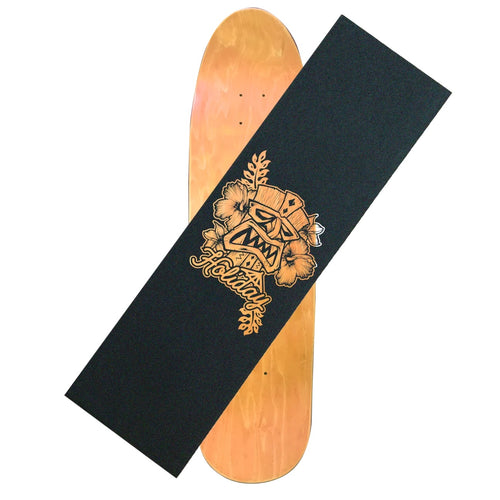 Holiday Tiki Mask Clear Griptape