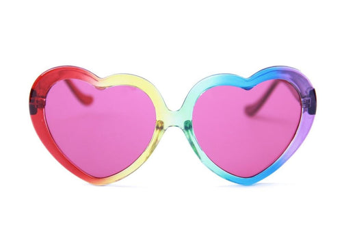 Happy Hour Heart Ons Moxi Rainbow Fade Sunglasses