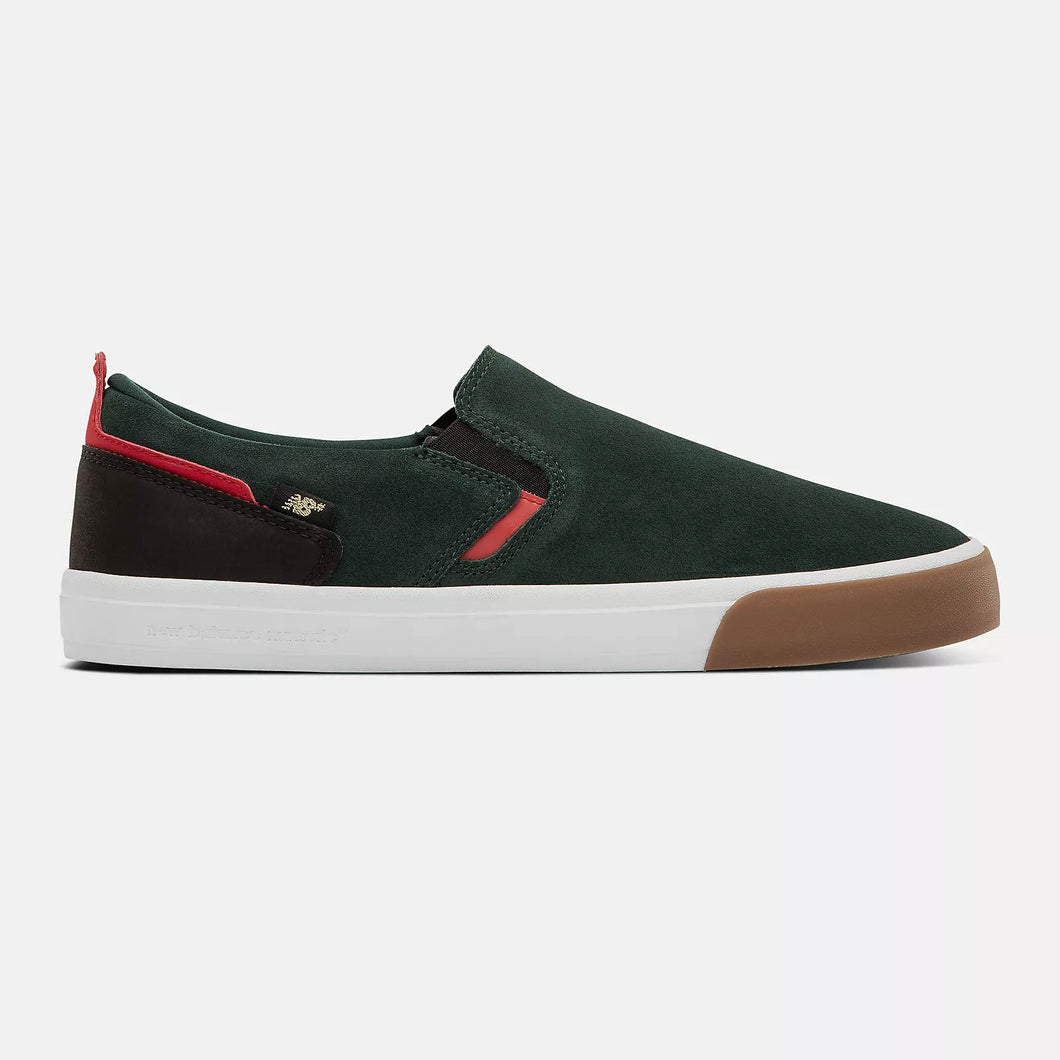 New Balance Numeric 306 Jamie Foy Slip-On Green Black Suede Shoes